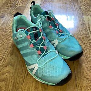 Adidas Terrex Womens Trail Running Shoes Green Size 9