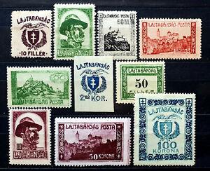 West Hungary VII. occupation stamps 1921--LAJTABANSAG **/*/(*) SIGNED(Bodor)