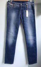 DIESEL Matic Blue Distressed Slim Tapered Jeans W30 L34 NWT Low Rise Stretch