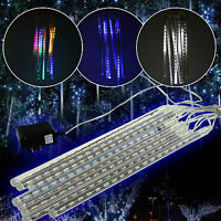 Outdoor Meteor Shower Christmas Fairy Lights Snowflake Icicle LED Xmas String