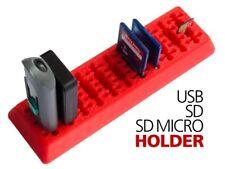 USB SD and MictoSD holder for wide USB sticks