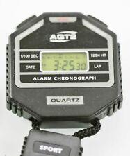 AQT2 StopWatch Mens Chron Date Alarm 24hr Black Plastic Water Resistant Quartz
