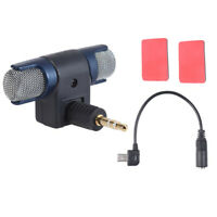 Action Camera External Mic + 3.5mm to Mini USB Mic Adapter for GoPro Hero 3 3+ 4