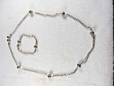Sarah Coventry Vintage Fashion Silvertone & Rhinestone Bracelet and Necklace Set