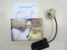 Spooky Skull Book Light NEW IN BOX  (Batteries not included)