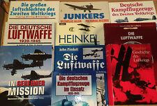 10 Bücher Luftkrieg Luftschlacht 2. Weltkrieg Luftwaffe Junkers Heinkel Buch