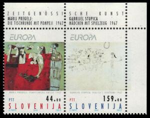 """SLOVENIA 171a - Europa """"Contemporary Art"""" Se-tenant Pair (pa34023)"""
