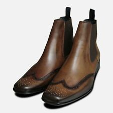 Exceed Brown Mens Chelsea Boots UK