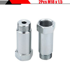 Durable M18 x 1.5 Zinc Plated Steel Car SUV O2 Sensor Extension Spacer Adapter