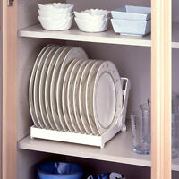 White Kitchen Foldable Dish Rack Stand Holder Bowl Plate Organizer Tray Shelf *1