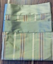BETTER HOMES & GARDENS WINDOW VALANCES LINED SET OF 2 STRIPED MULTI-COLOR