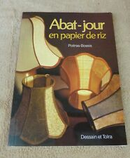 ABAT-JOUR EN PAPIER DE RIZ - POITRAS-BOSSIS - DESSAIN ET TOLRA