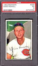 1952 Bowman #222 Dixie Howell Cincinnati Reds Professional Graded PSA 5