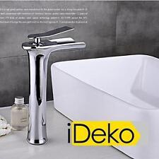 Robinet lavabo cascade contemporaine de haut mitigeur salle de bain laiton chrom