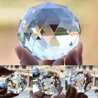 80mm Clear Feng Shui Hanging Crystal Ball Prisms Lamp Sphere Rainbow Sun Catcher