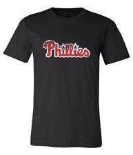 Philadelphia Phillies Text Logo Distressed Vintage logo T-shirt 6 Sizes  S - 5XL