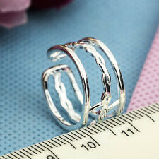 Wholesale 925 Sterling Silver Plated Women Fashion jewelry Rings SIZE OPEN #20