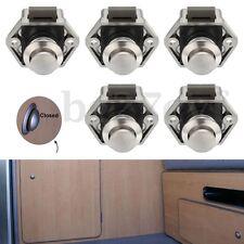 5Pcs Push Button Catch Lock Pop Up Knob For RV Caravan Boat Motor Home Cupboard
