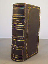 CHANSONS DE BERANGER / EDITION ELZEVIRIENNE / RELIURE CUIR 1861 PERROTIN