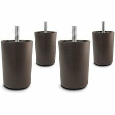 "3"" Universal Brown Plastic Furniture Legs Sofa/Couch/Chair 5/16"" - Set of 4"