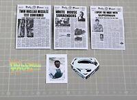 "1/6 Scale Newspaper Daily Planet Prop 12"" Matty Lex Luthor/Clark Kent Figure"