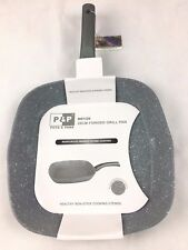 New Reinforced Grey Marble Stone Coated Nonstick Grill Pan Cookware Induction