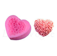 3D Love Roses Silicone Fondant Molds Cake Decorating Chocolate Baking Moulds 6hg