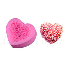 3D Herz Silikon Rose Ausstechform Marzipan Fondant Tortendeko zum Backen Basteln