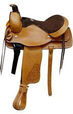 "16"" Roping Style Light Oil Pleasure Saddle by Buffalo Saddlery"