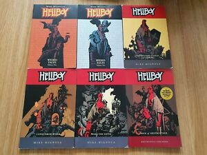 6 x Hellboy Graphic Novels - Including Weird Tales - Mike Mignola