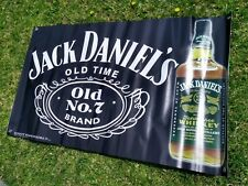 HUGE GREEN LABEL  JACK DANIELS  VINYL BANNER  30x50inches. Black ..