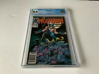 WOLVERINE 1 CGC 8.0 WHITE PAGES NEWSSTAND NEWS STAND EDITION MARVEL COMICS 1988