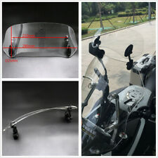 1Pcs Universal Adjustable Motorcycle Windscreen Windshield Spoiler Air Deflector