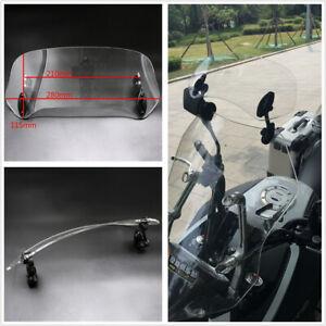 1Pcs Universal Adjustable Motorcycle Windscreen Windshield Spoiler Air Deflector