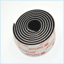 """1M SJ3550 Width 1"""" x 40""""Inch Dual Lock Tape VHB Black Reclosable Fastener Roll"""