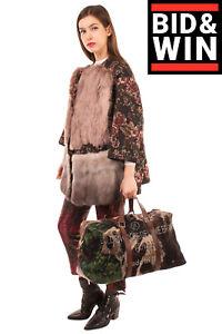 RRP €1285 GOLDEN GOOSE DELUXE BRAND Wool Tweed Weekend Bag Large Made in Italy