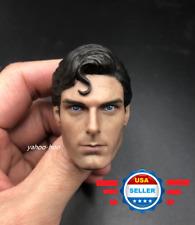 "CUSTOM Superman Christopher Reeve 1/6 Head Sculpt For 12"" Hot Toys PHICEN Figure"