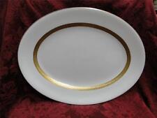 "Wedgwood Adelphi, White w/ Gold Encrusted Verge: Platter, 16"""