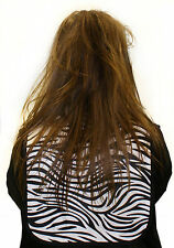 HAIR TOOLS ZEBRA CUTTING COLLAR 100% WATERPROOF NYLON WOVEN EXTRA LONG LENGTH