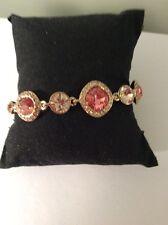 $78 Givenchy Cubic Zurconia Flex Bracelet Peach Gv 424