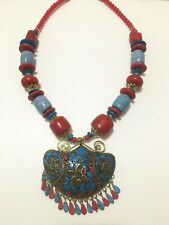 Navaratri Special Jewelry, Beads jewelry 13inch, red and blue beads