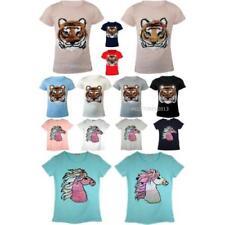 Vêtements t-shirts à motif Graphique polyester pour fille de 2 à 16 ans