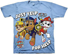 Paw Patrol Toddler Boys Short Sleeve Just Yelp for Help Marshall Rubble Chase