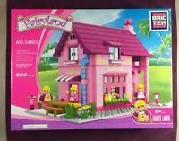 Brictek Fairyland Creamery 523 Pcs 24803 Girl Themed Pink Purple Bricks New Box