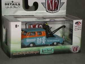 1/64th M2 Machines Auto Trucks R52 1960 VW Double Cab Tow Truck