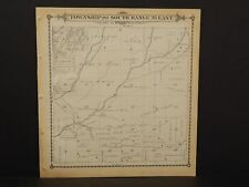 California Tulare County Map Township 20 Dbl Side 1892 !W12#52