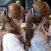 Fashion Women girl Crystal Hair Clips Barrette Hairpins Ponytail Holder