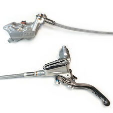 Hope Tech 3 E4 Silver Left / Front Braided Hose Brake w/ Floating Rotor - New