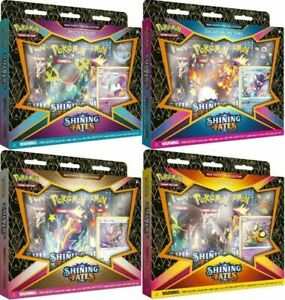 NEW Pokémon TCG: 1 RANDOM SEALED Shining Fates Mad Party Pin Collection