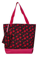 Jenzys Floral Womens Travel Tote Bag Purse Handbag Shopping Gym School